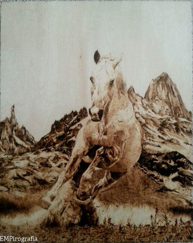 EMPirografia - Koń w galopie