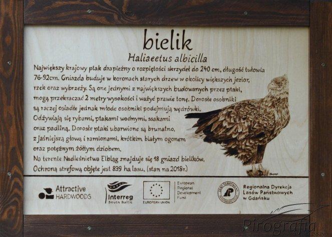 pirografia, tablica edukacyjna, wypalanie w drewnie